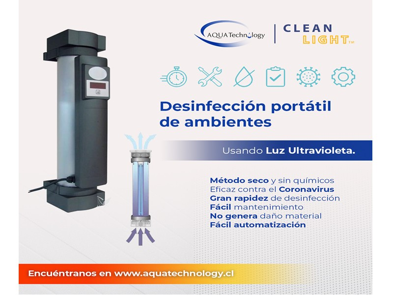 CLEAN LIGHT AIR & CleanLight PRO Purificadores de aire que eliminan el coronavirus COVID-19